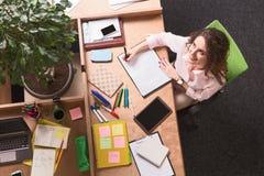 деятельность женщины офиса дела Стоковое Изображение