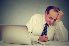 деятельность офиса человека стола дела Стоковое Фото