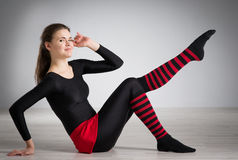 делать гимнастику девушки Стоковое фото RF