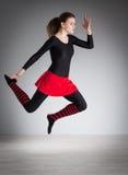 делать гимнастику девушки Стоковое Изображение