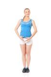 делать детенышей женщины пригодности тренировки счастливых Стоковые Изображения RF