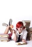 делать детенышей домашней работы девушки Стоковая Фотография