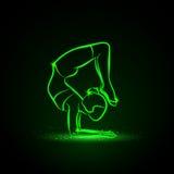 делать йогу женщины Иллюстрация женщины практикует йогу бесплатная иллюстрация