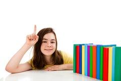 делать домашнюю работу девушки Стоковая Фотография RF