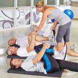 делать старший людей гимнастики Стоковая Фотография