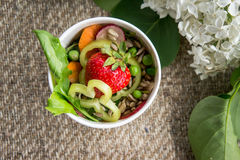 Еда вегетарианской еды здоровая Стоковое фото RF
