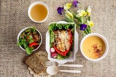Еда вегетарианской еды здоровая Стоковое Изображение RF