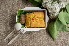 Еда вегетарианской еды здоровая Стоковые Изображения RF