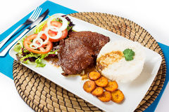 Еда венесуэльца негра Asado типичная Стоковая Фотография RF