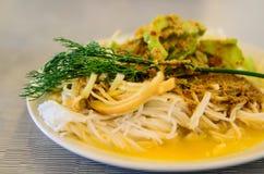 Еда вермишели риса тайская Стоковые Изображения