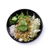 Еда вермишели риса тайская Стоковое Фото