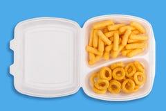 Еда высококалорийной вредной пищи Стоковые Изображения RF
