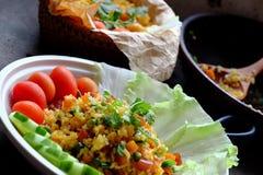 Еда Вьетнама, жареный рис Стоковые Изображения RF