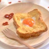 Еда влюбленности завтрака влюбленности Стоковое Изображение RF
