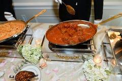 Еда в skillet Стоковое Изображение RF