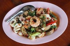 Еда горячая и пряная в Таиланде Стоковое Изображение