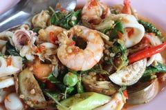 Еда горячая и пряная в Таиланде Стоковое Фото