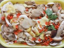 еда гриба champignon Стоковая Фотография RF