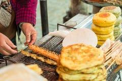Еда гриля улицы стоковые фото