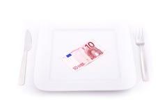 Еда евро Стоковые Фотографии RF