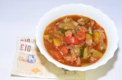 Еда еды овощей тушёного мяса Стоковое Изображение RF