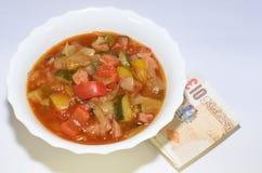 Еда еды овощей тушёного мяса Стоковое Изображение