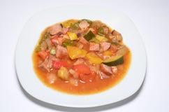 Еда еды овощей тушёного мяса Стоковые Изображения