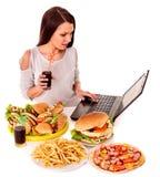 еда женщины старья еды Стоковые Фото