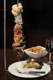Еда: зажаренное мясо на протыкальнике Стоковое Фото