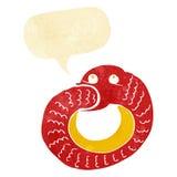 еда змейки шаржа имеет кабель с пузырем речи Стоковая Фотография