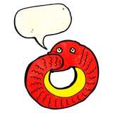 еда змейки шаржа имеет кабель с пузырем речи Стоковое фото RF