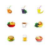 Еда значков Стоковое Изображение RF