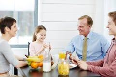 Еда здоровой еды на завтраке Стоковая Фотография RF