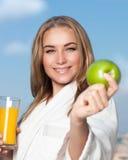 еда здоровой женщины Стоковое Изображение RF