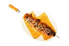 Еда изолированная на белой предпосылке Стоковые Изображения RF