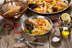 Еда испанского языка паэлья Стоковое Изображение