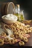 Еда итальянки закуски хлеба Taralli стоковая фотография