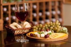 Еда и вино стоковое изображение