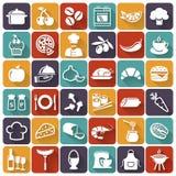 Еда и значки варить вектор комплекта сердец шаржа приполюсный бесплатная иллюстрация