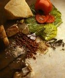 Еда и ингридиенты Стоковое Изображение RF