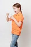 Еда и маленькая девочка Стоковое Изображение