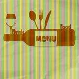 Еда и питье меню ресторана иллюстрация вектора