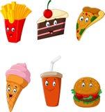 Еда и питье собрания иллюстрация штока