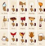Еда и питье Стоковые Изображения
