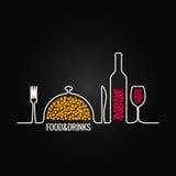 Еда и предпосылка меню питья иллюстрация вектора
