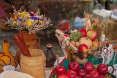 Еда и плодоовощи Стоковые Фото