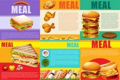 Еда и фаст-фуд Infographic здоровые бесплатная иллюстрация