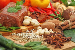 Еда и bevarage стоковое фото