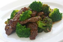 еда китайца брокколи говядины Стоковые Фото