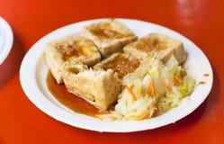 Еда китайца и Тайваня традиционная известная - вонючее тофу Стоковое Изображение